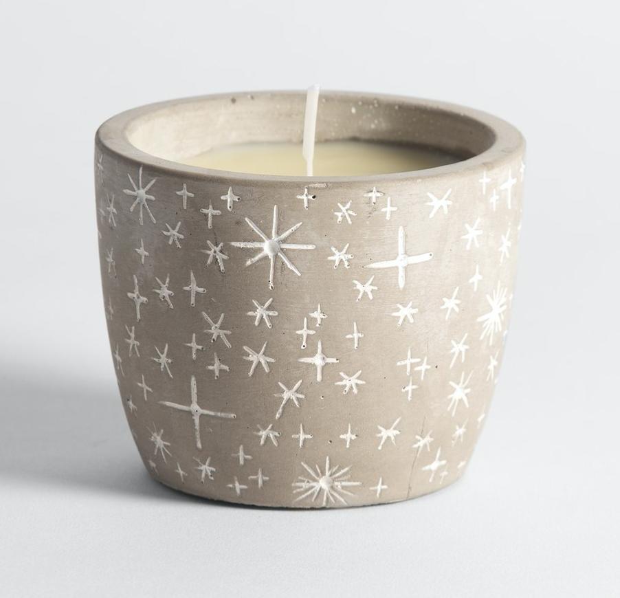 Winter Star Candle Pot - Orange & Cinnamon
