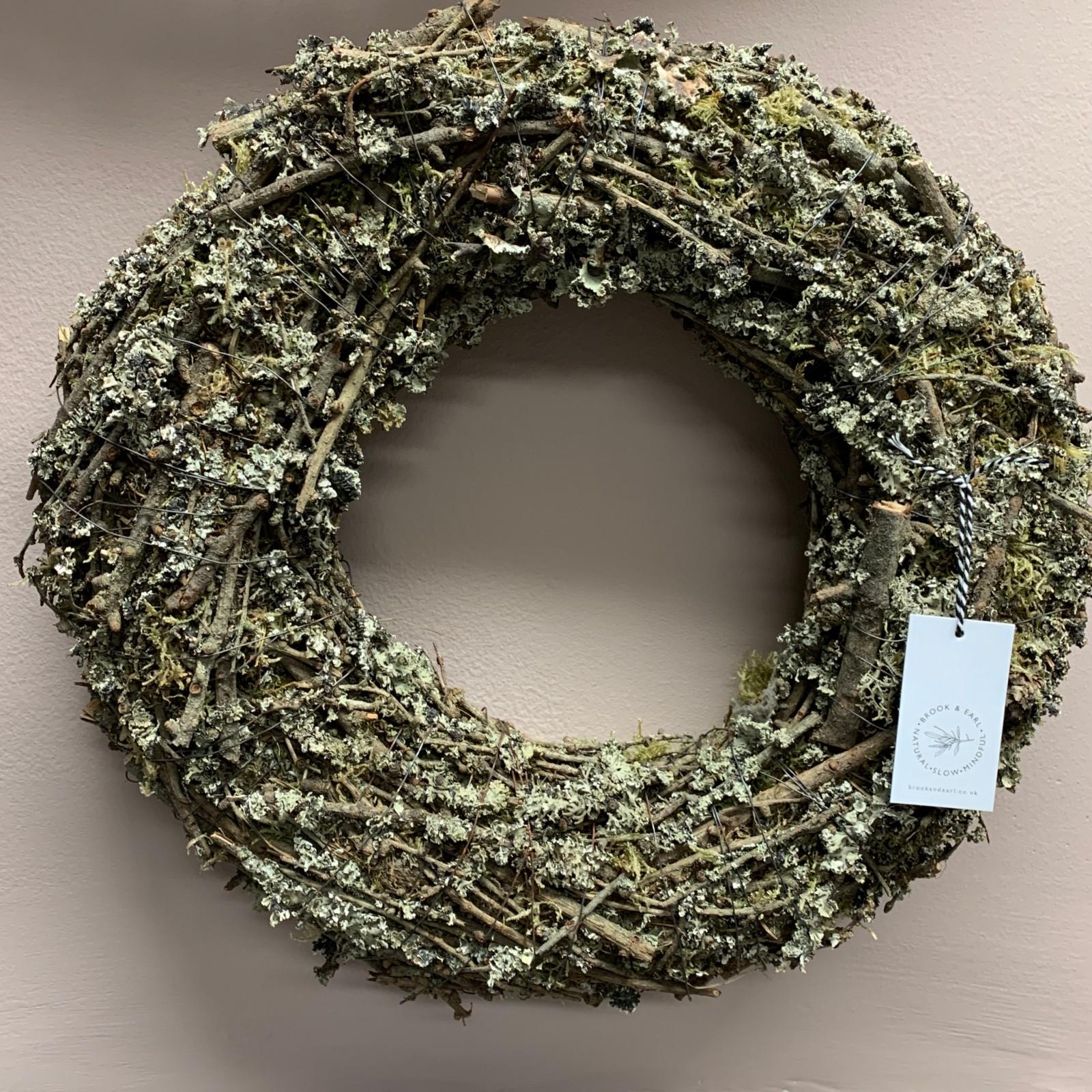 Medium Twig & Moss Wreath