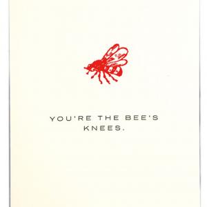 Bees Knees - Letterpress Greetings Card