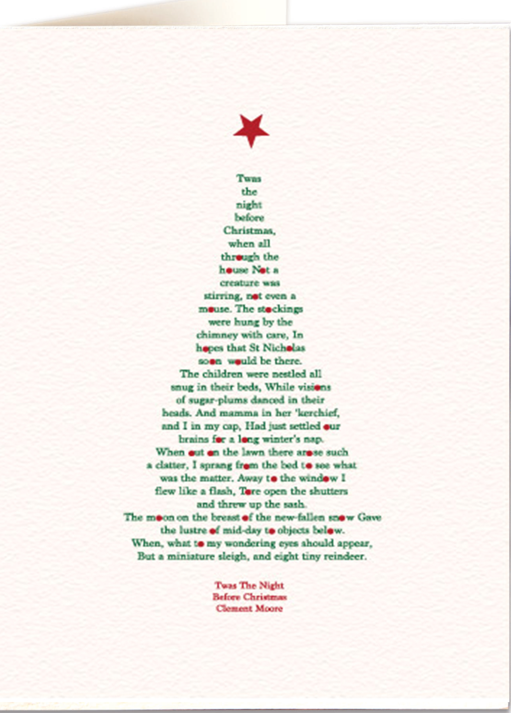 Twas the night before Christmas - Letterpress Christmas Card