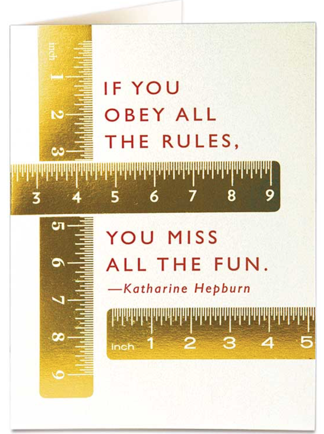 The Rules - Letterpress Greetings Card