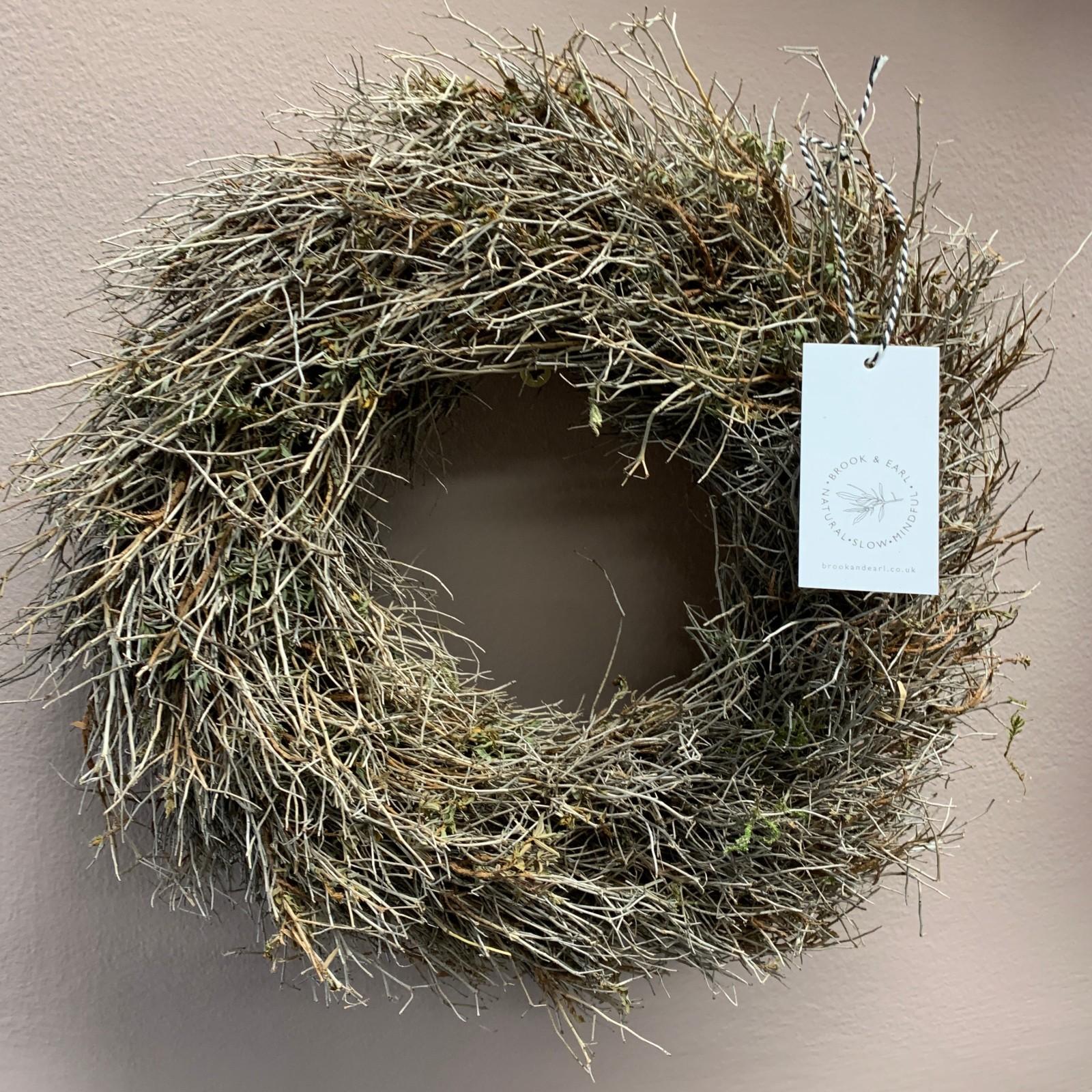 Small Dried Scrub Wreath