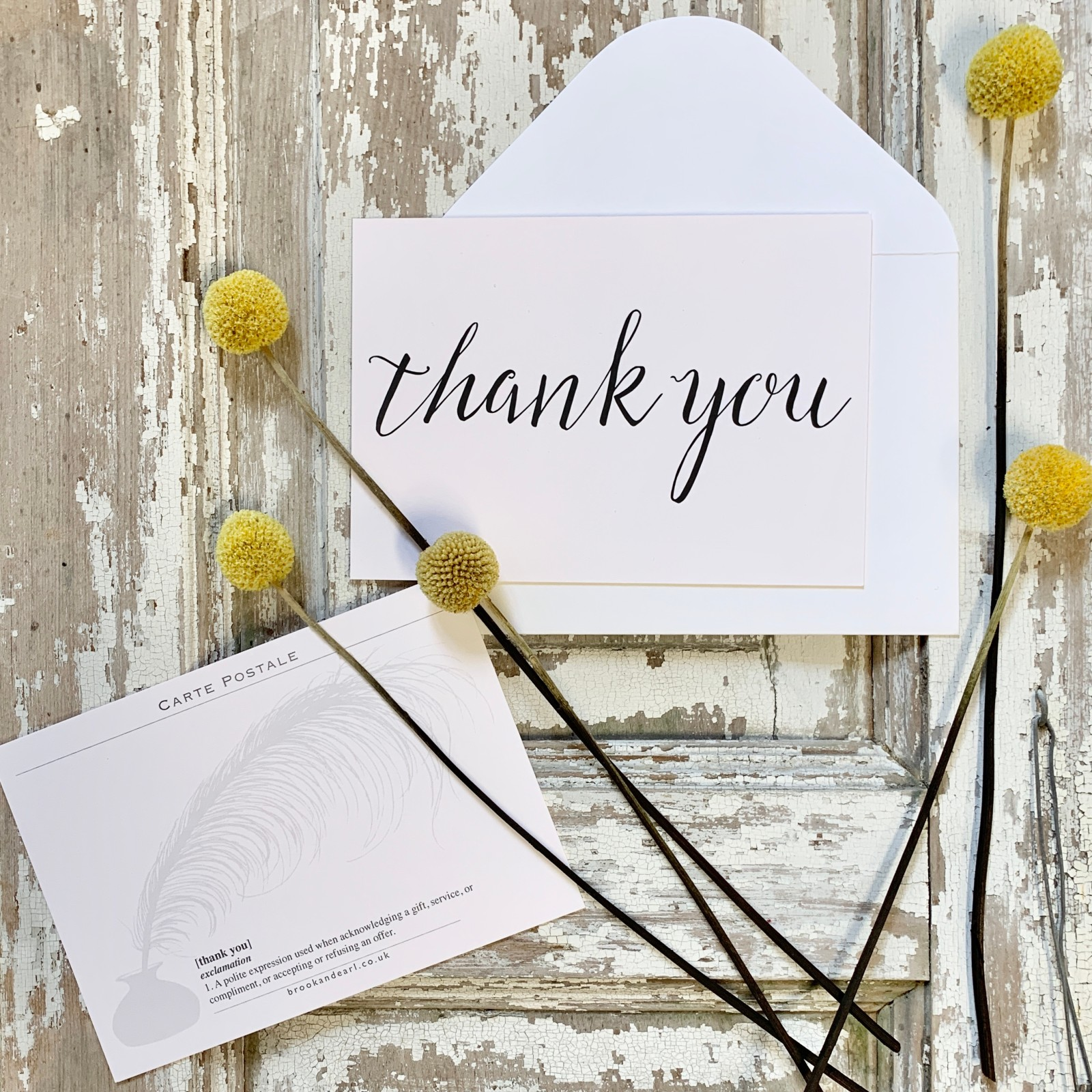 Post card -  Thank You