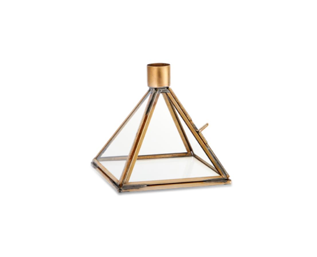 Bequai Display Pyramid Candlestick - Antique Brass  -