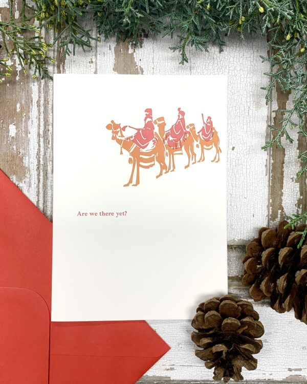 Are we there yet - Letterpress Christmas Card