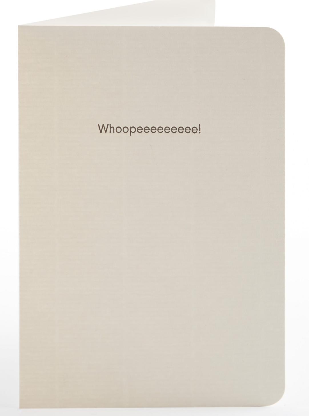 Whoopeeeee! - Letterpress Greetings Card