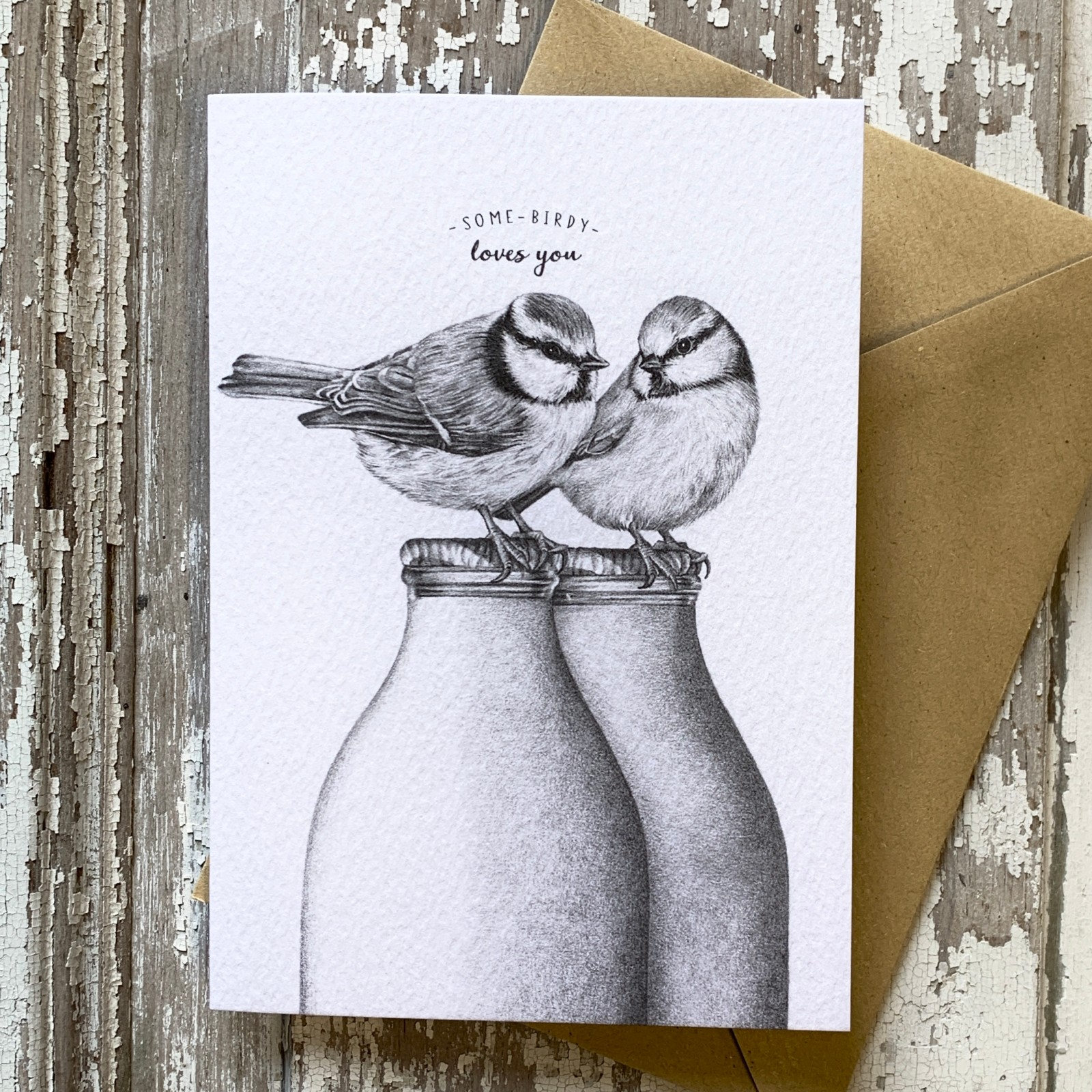 Some Birdy Loves You - Greetings Card