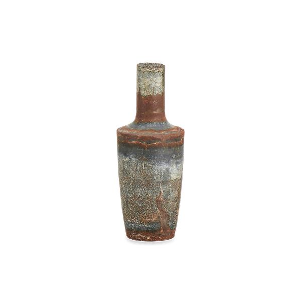Bennu Mini Bottle Vase - Aged Zinc