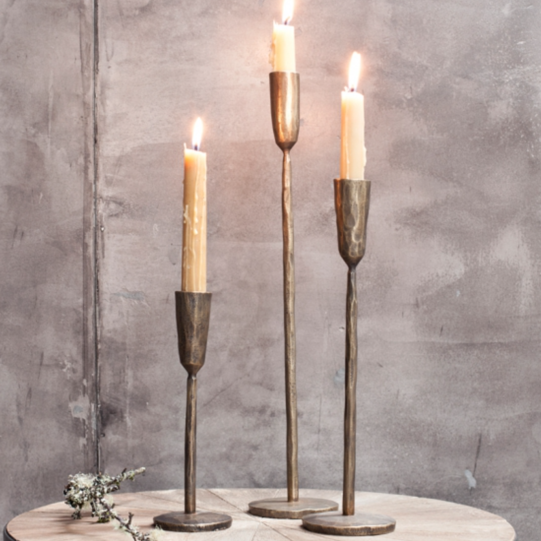 Mbata Brass Candlestick - Antique Brass