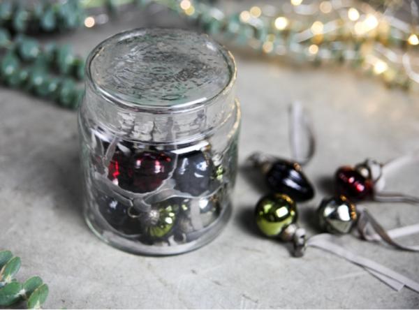 Adisa Bauble Jar - Mixed Colours Set of 16 Baubles